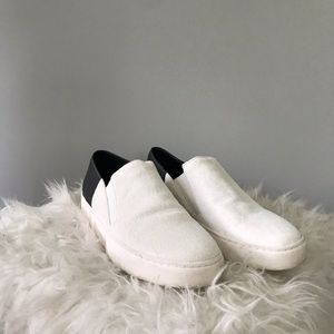 Freepeople sneakers with cow hair on the front